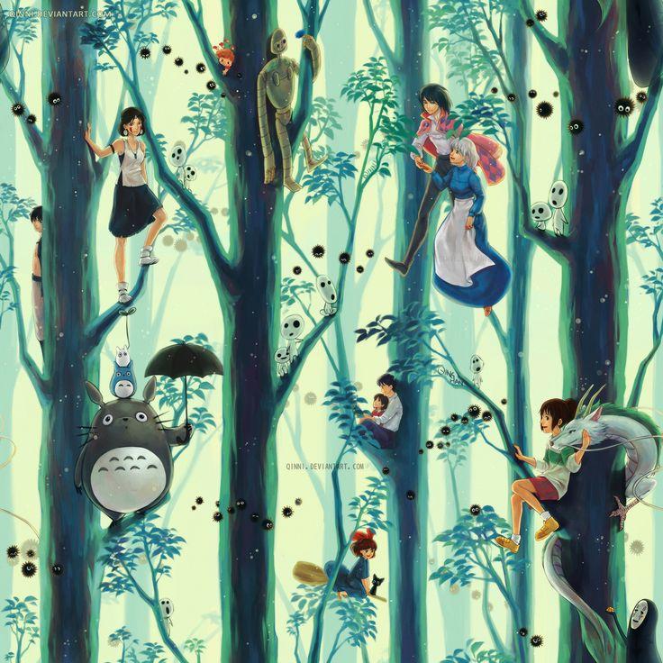 Les personnages de Ghibli FanArt