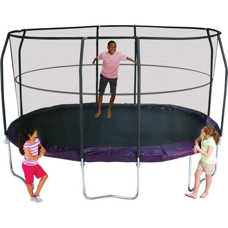 17 Best Ideas About Trampoline With Enclosure On Pinterest