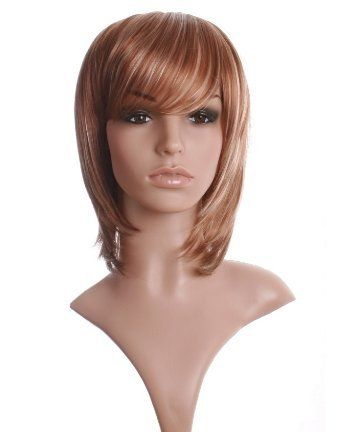 Shoulder length light brown/blonde face frame layered ladies wig with blonde highlights & fringe! ! by Wonderland Wigs. $33.95. 100% Kanekalon synthetic fibre - high quality natural look. Same day despatch. Length:34cm/14in. Shoulder length light brown/blonde face frame layered ladies wig with blonde highlights & fringe. Discreet packaging. NOTE: A genuine version of this item is ONLY available to buy from Wonderland Wigs. Other sellers are selling copies of this item and ...