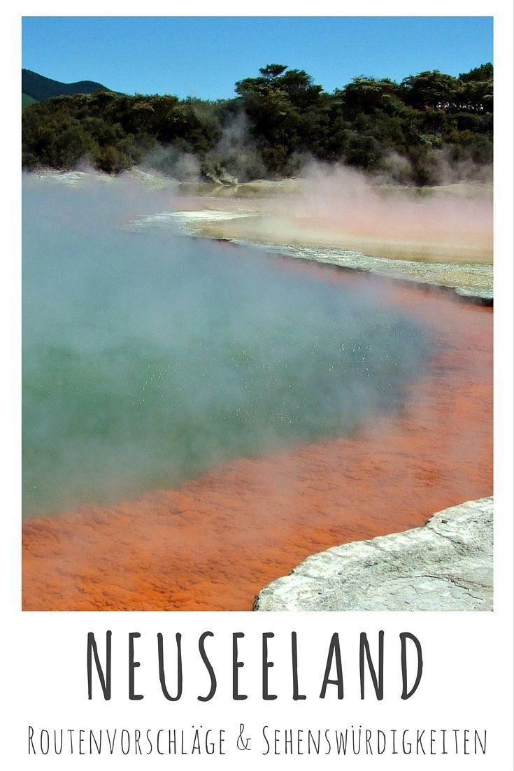 Wai-O-Tapu Thermal Wonderland bei Rotorua. Lies weiter in meinem Reiseblog: Neuseeland - Reisetipps, Routenvorschläge & Sehenswürdigkeiten