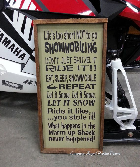 SNOWMOBILING- SLEDDING Sign, Handmade Wood Typography Sign, Fathers Day Sign, Mancave Sign, Bar Sign, Framed on Etsy, $59.95