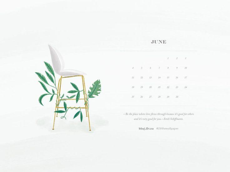 June Desktop Wallpaper, 2017, LIV interiors, Beetle Chair inspired by Gubi, Love, Erich Schiffman