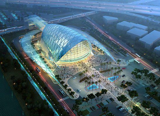 Anaheim Regional Transportation Intermodal Center (ARTIC), Anaheim, CA Architect: HOK and Parsons Brinckerhoff