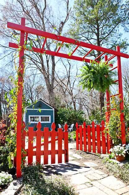 DIY Garden Arbor yard ideas Pinterest Gardens