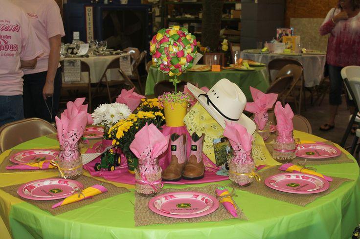 John Deere Table Decorations : Pink john deere festival of tables centerpiece