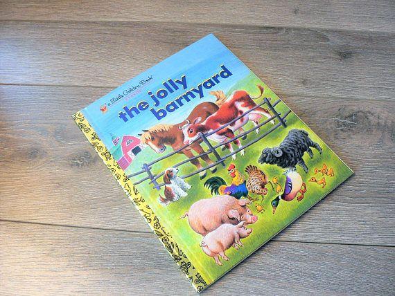 Vintage Little Golden Book Classic the Jolly Barnyard