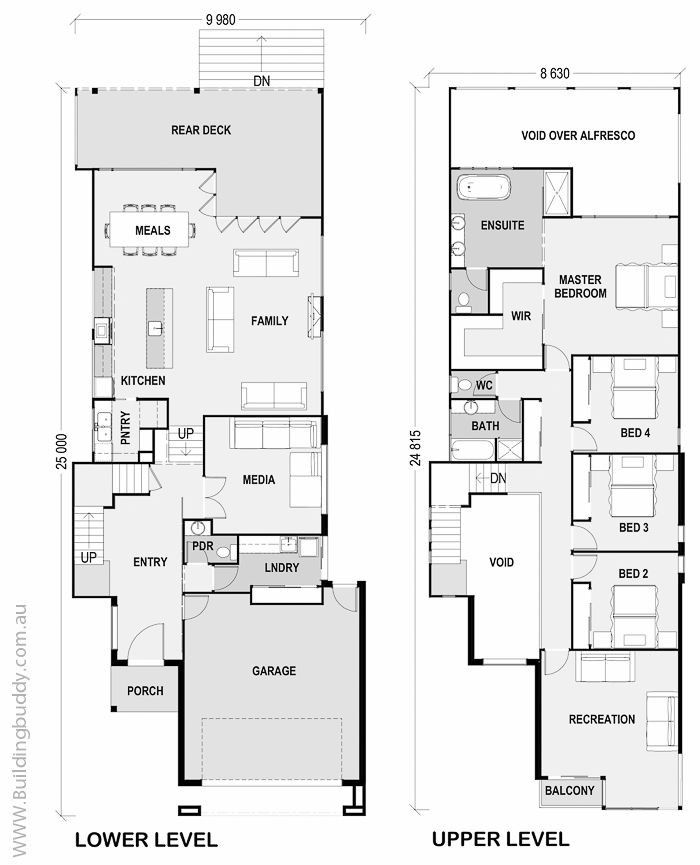 Narrow Sloped Lot House Plans 2021 Sloping Lot House Plan Narrow House Plans Double Storey House Plans