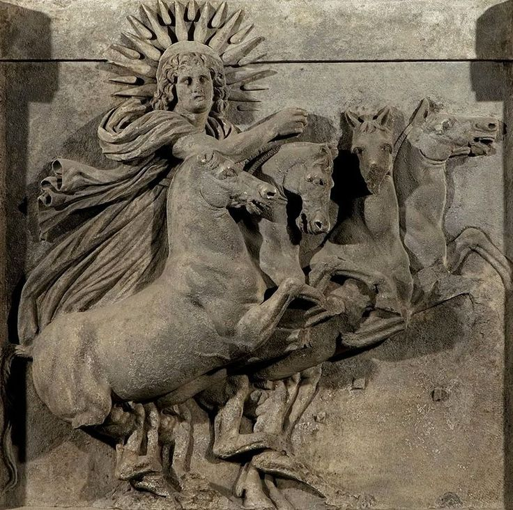 Discovered by Heinrich Schliemann during the excavations at Troy in 1872, a marble #artifact ca. 390 BC of the ancient #greek #Titan, #helios (Ἥλιος) riding in his chariot of the sun across the sky. #PanHellenic Sun symbol also known as the  #Vergina Sun #Macedonian #Sun and Argead Sun