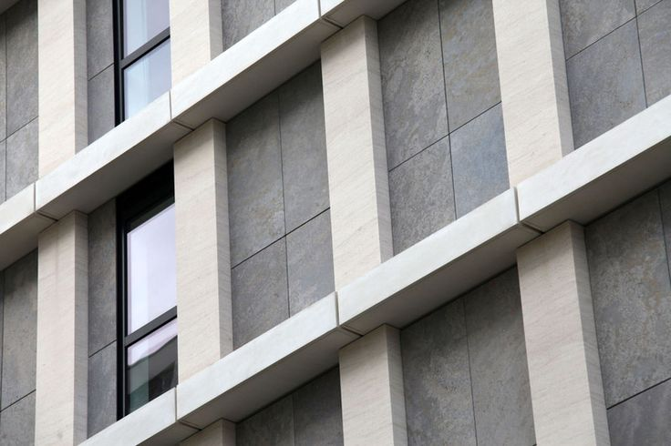 Airtec Stone - natural stone façade : References | LITHODECOR | Innovative façade systems with natural stone, glass, render and photovoltaic modules