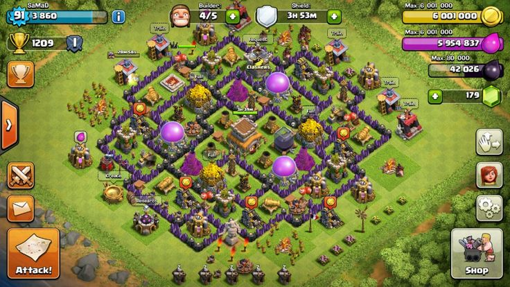 Clash of clans trophy base for town hall 8 players. #clashon