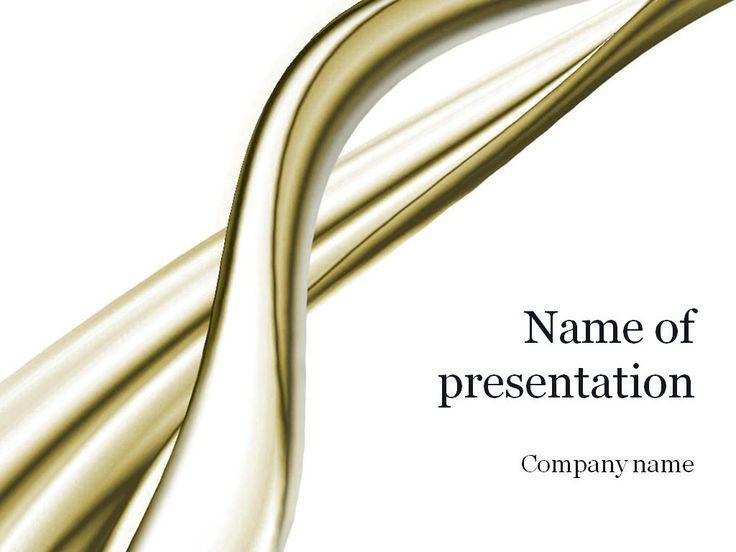 Golden Threads PowerPoint Template