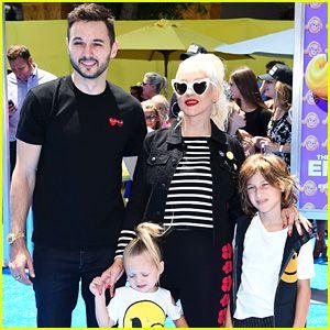 Christina Aguilera's Kids Wear Their Emojis to 'Emoji Movie' Premiere!