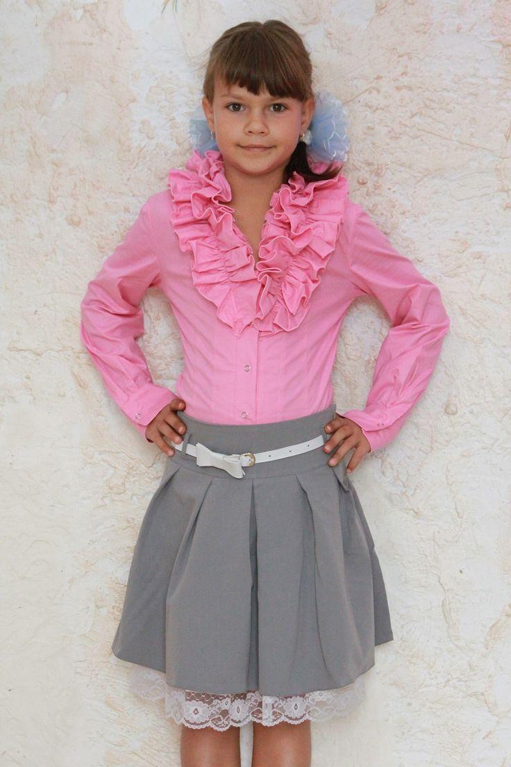 Блузка Лина Цвета: малиновый, коралловый , бирюзовый , розовый р-р 116-122-128-134  Цена 130грн.
