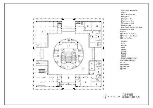 Da Chang Muslim Cultural Center,Second floor plan