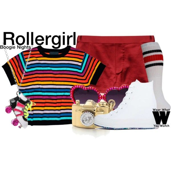 Inspired by Heather Graham as Rollergirl in 1997's Boogie Nights.