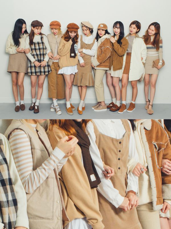 Similar look is a fashion trend in Korea to wearsimilariy with a group of friends   It is pretty much the same as twin lookbutwi...