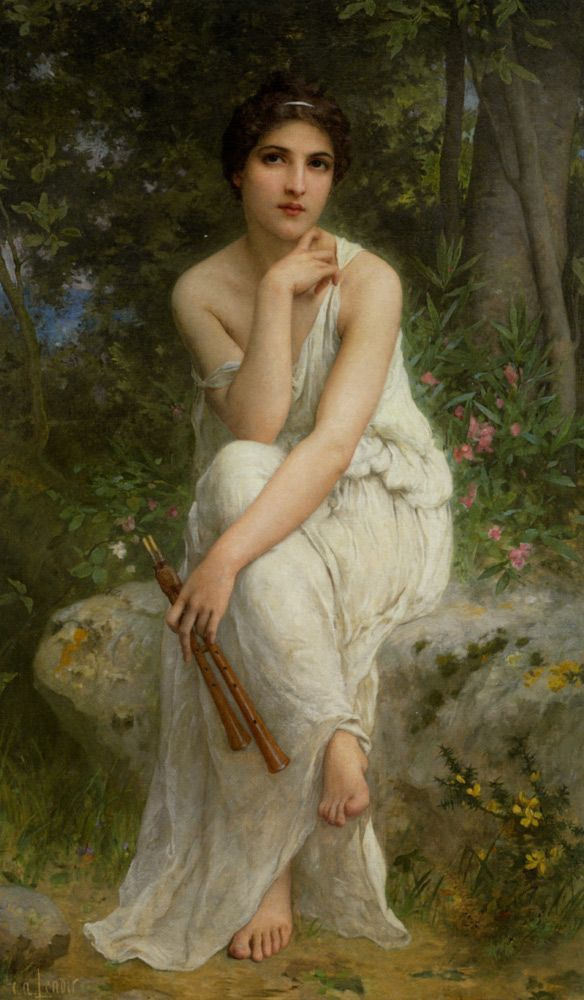 Charles Amable Lenoir (1860-1926) The Flute Player