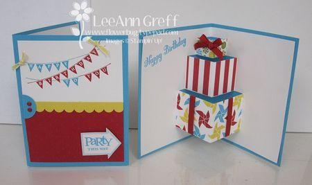 Pop up present card