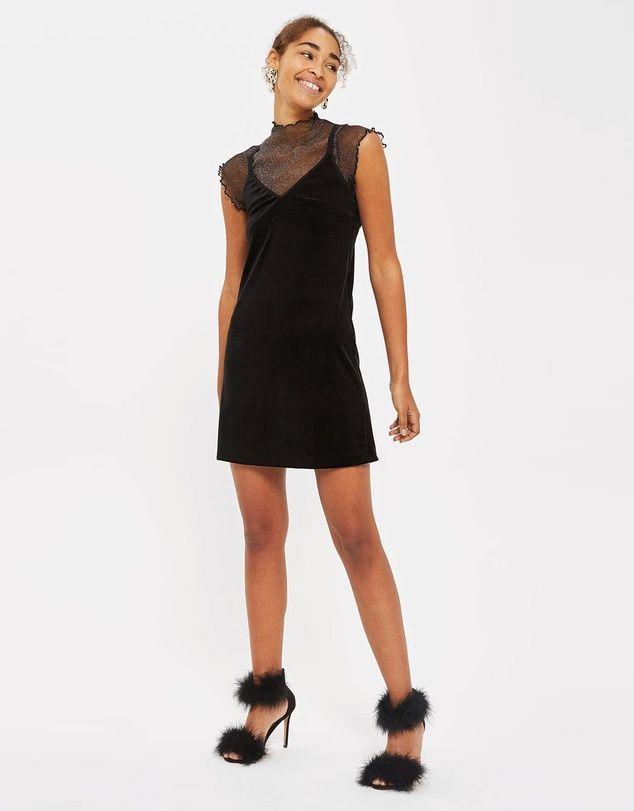 5d8e05a0 TOPSHOP - Velvet Slip Dress | Fashion | Velvet slip dress, Dresses ...