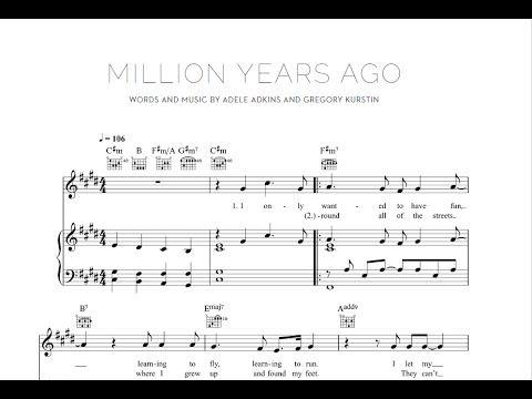 Million Years Ago - Adele [Sheet & Midi Download] #sheetmusic #midi #download #adele #millionyearsago Download link: http://goo.gl/eYkZsU