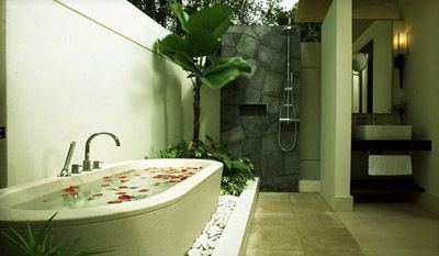 What about an Outdoor Shower and Bath Tub?