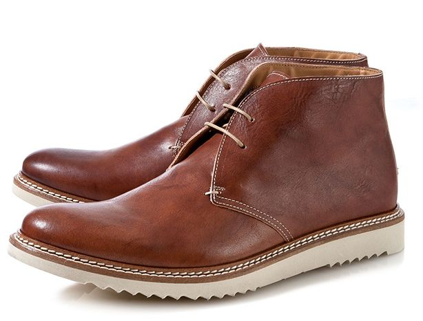 A Brown Leather Lace-Up Boot from Bespoken