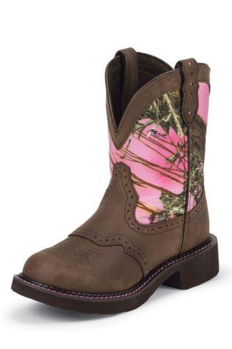 Justin Gypsy Aged Bark Pink Camo Cowgirl Boots L9610 | eBay
