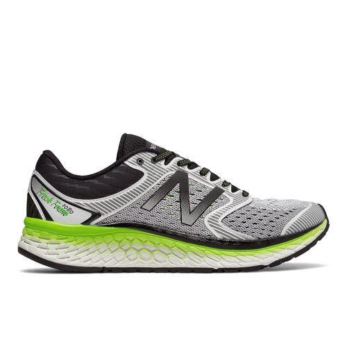 New Balance Men's Fresh Foam 1080v7 Running Shoes (White/Grey/Black/Energy Lime, Size 10.5) - Men's Running Shoes at Academy Sports