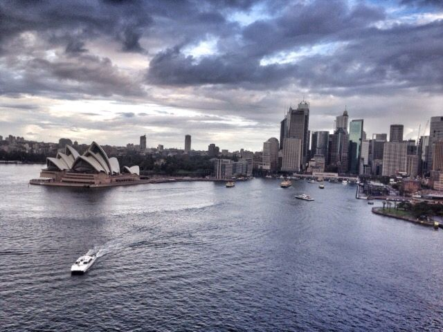 View from Harbour bridge / Sydney / Australia