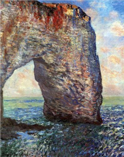 The Mannerport near Etretat - Claude Monet