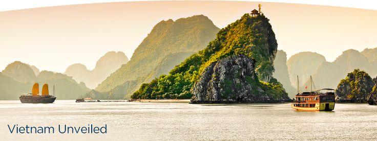 Vietnam Unveiled Cruise - Ho Chi Minh City to Hong Kong. Includes: Ho Chi Minh City (Saigon), Nha Trang, Qui Nhon, Da Nang (Hoi An/Hue), Hanoi (Haiphong), Halong Bay, Hong Kong http://www.windstarcruises.com/asia-overview.aspx