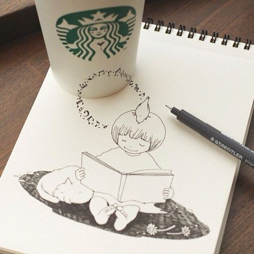 Starbucks Coffee Cup Art by Tomoko Shintani