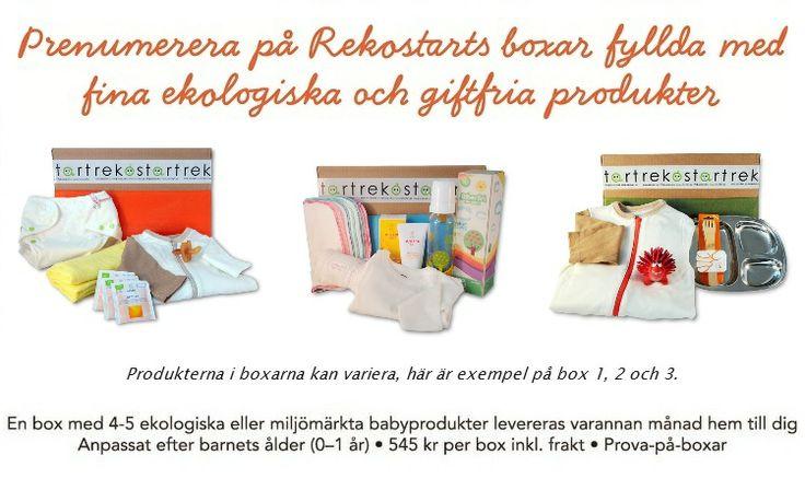 Rekostart - prenumerera på ekologiska och giftfria babyprodukter