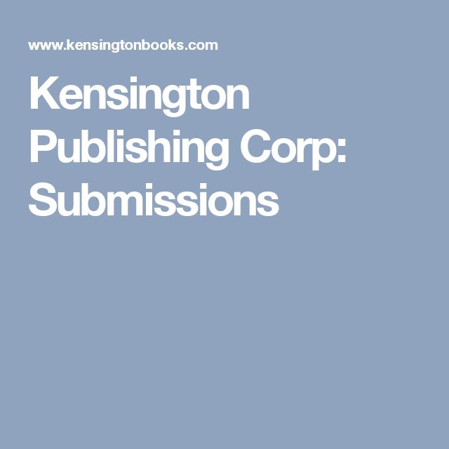 Kensington Publishing Corp: Submissions