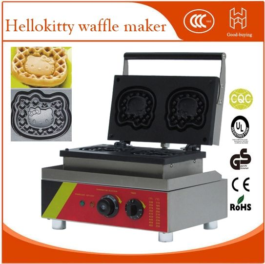299.00$  Buy here - http://ali9ap.worldwells.pw/go.php?t=32725708333 - Hellokitty shape Industrial waffle cake maker/waffle macine/electric waffle maker 299.00$
