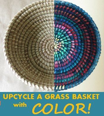 Upcycle an Old Basket With Paint and COLOR!