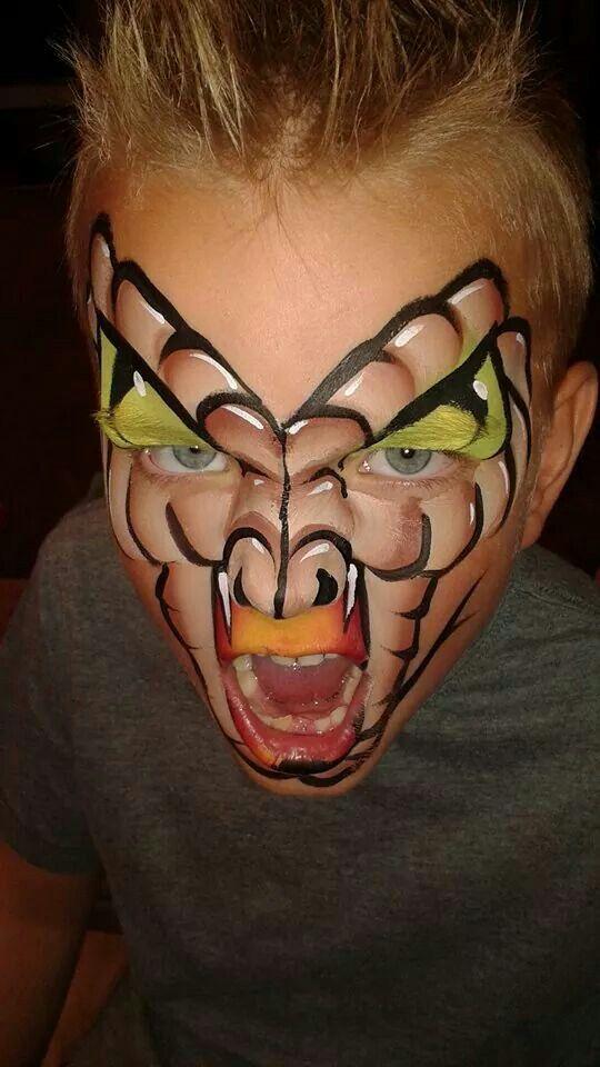 Facepaint boy monster