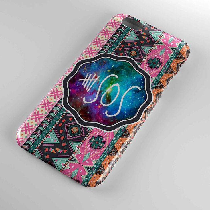 5 second of summer 5 sos aztec chevron cover for iphone and samsung galaxy case