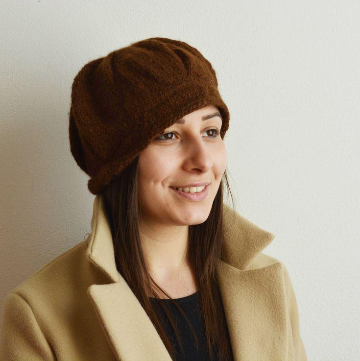 Cappello Baby Alpaca lavorato a maglia, 100%  Baby Alpaca, Regalo per l'inverno, Regalo per lei di AlpacaDiMarano su Etsy