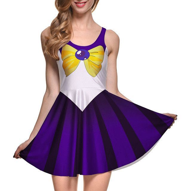 Qickitout Dress Sexy Japanese Anime Sailor Moon Cosplay soldier Adult Halloween Fancy Dress Costume Sailormoon women girl
