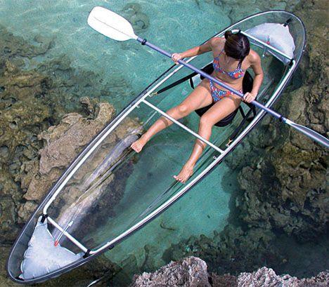 See-through Canoe. Can you canoe?