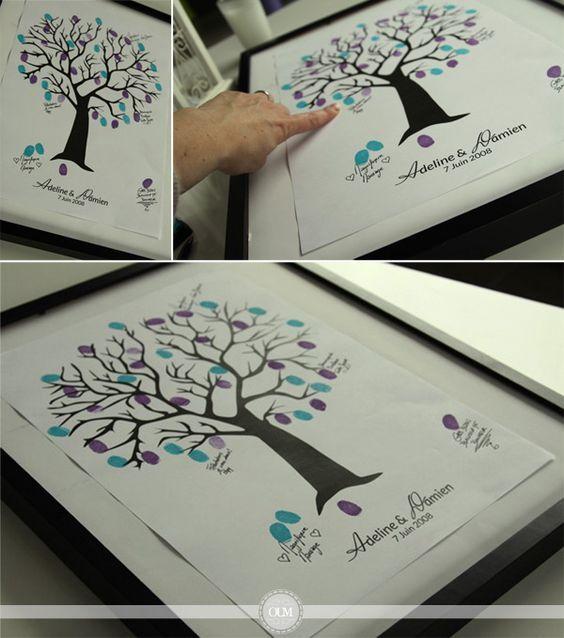 Un arbre à empreintes à télécharger et imprimer gratuitement - Organiser un mariage