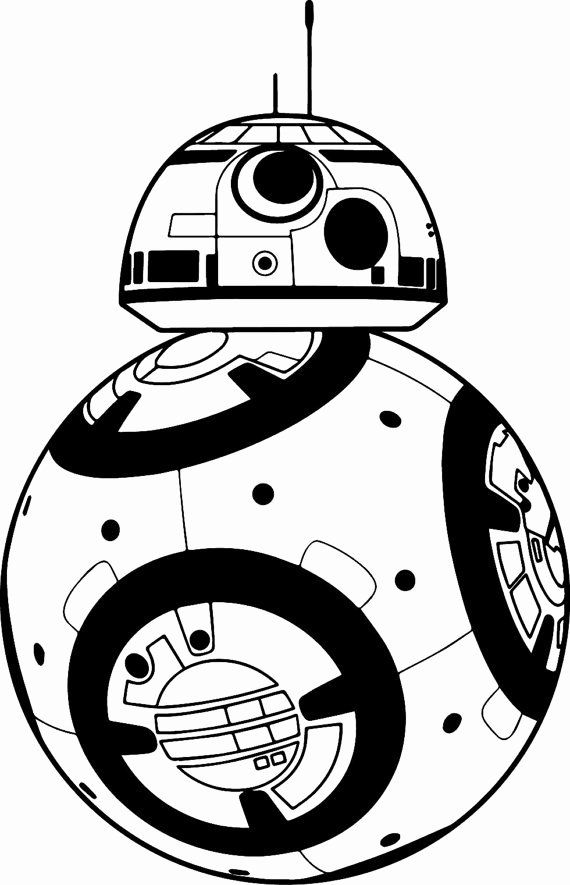 Bb-8 Coloring Page Elegant Star Wars Bb 8 Black and White ...