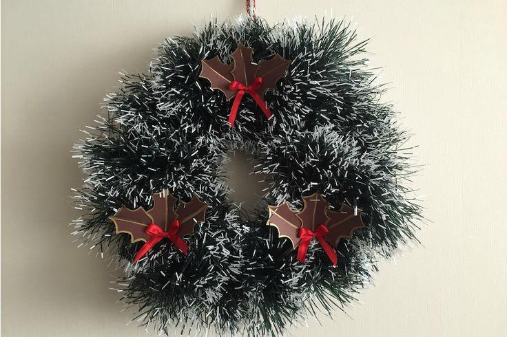 Adornos navideños: Corona de Navidad   Librería Lápiz López