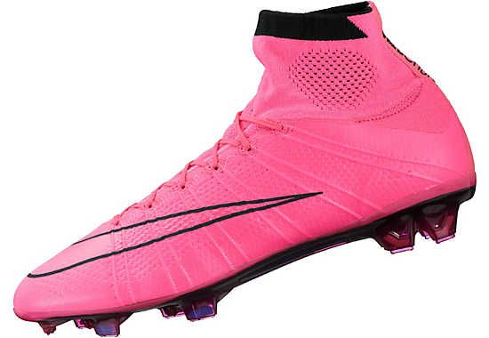 Nike Mercurial Superfly IV FG Soccer Cleats - Pink and Black
