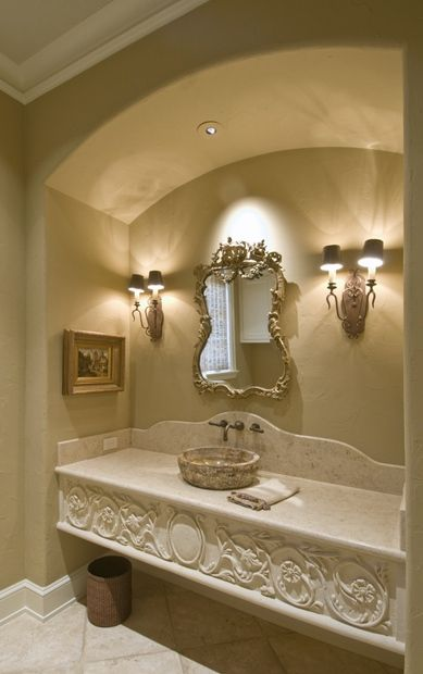 Grand Stone Vanity In The Master Bath