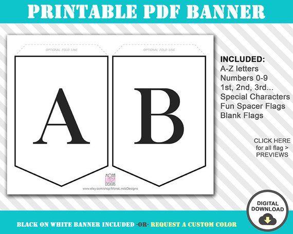 Printable Bunting Banner Pdf Printable Alphabet Letter