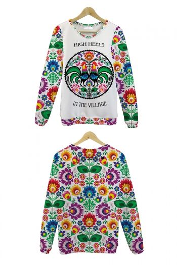 Our folk pattern used on lovely Koko Swag clothing
