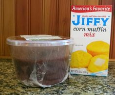 Easiest Homemade Dog Treats  tub chicken liver and 1 package Jiffy corn muffin mix. That's it. Just add more chicken liver puree or more water to make up the difference in liquid required).Put the chicken liver in the blender or food processor, liquid included. Blend until it's pink and frothy.mix with the package of corn muffin mix.