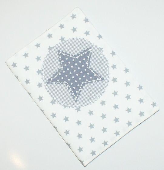 Mutterpasshülle++weiß+grau+Stern+von+Blue-Boy+auf+DaWanda.com